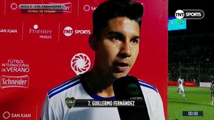 Pol Fernández habló tras su  vuelta a Boca