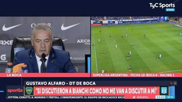 """Alfaro: """"Si criticaron a Bianchi, también lo van a hacer conmigo"""""""