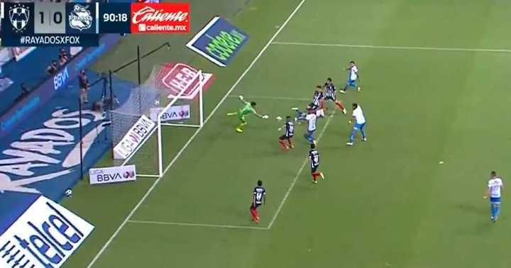 El gol que le hicieron a Andrada en su debut en México