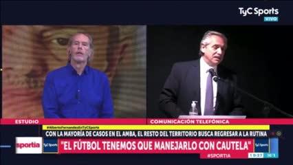 Alberto Fernández y la vuelta del fútbol