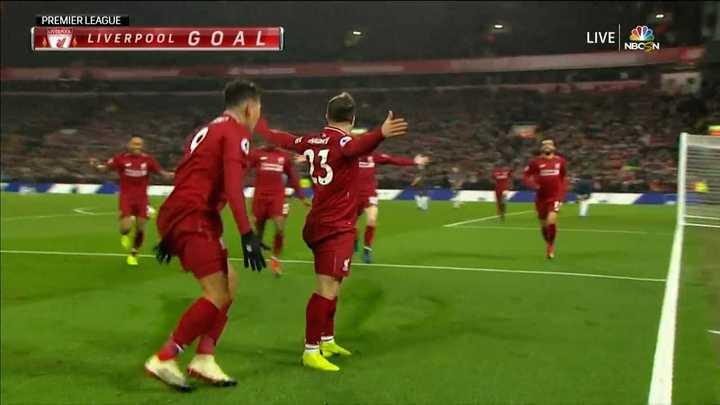 El Liverpool volvió a estar en ventaja