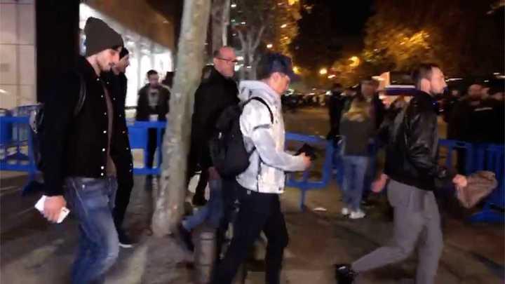 Dybala, Bentancur y Chiellini no pudieron entrar al palco de honor del Bernabéu