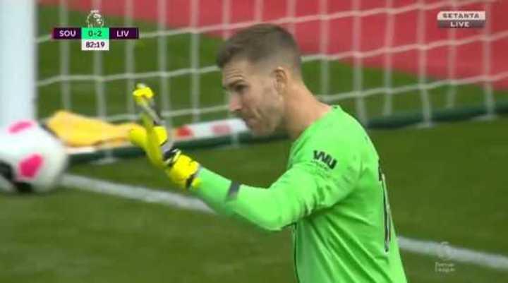 Error de Adrián para el descuento del Southampton