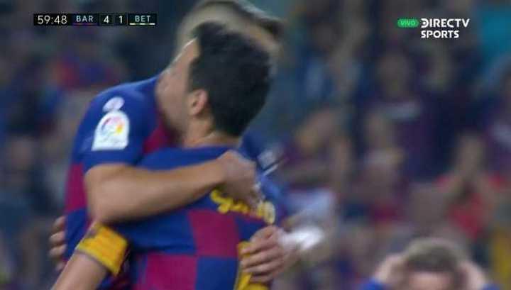 Jordi Alba marcó el cuarto de Barcelona