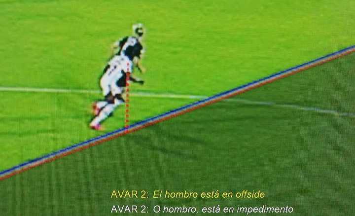 El VAR en el gol anulado al Fla