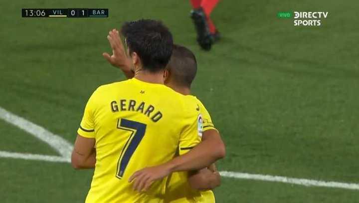Gerard Moreno empató el partido ante Barcelona