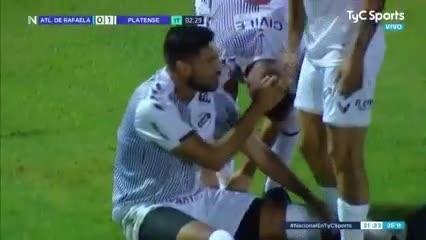 El 1-0 de Platense a A. Rafaela