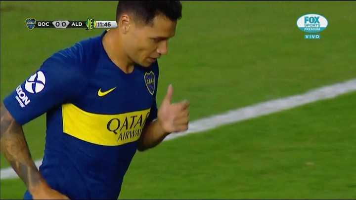 Gran contra de Boca que definió mal Mauro Zárate