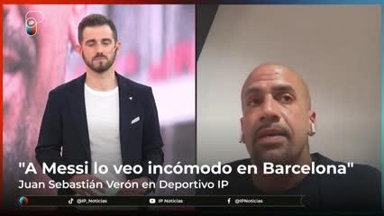 """Verón y la """"incomodidad"""" de Messi en el Barsa"""