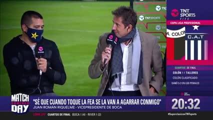 """Riquelme: """"Se enferma el portero y la culpa es de Riquelme"""""""