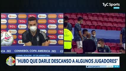 """Scaloni: """"En los partidos anteriores, Argentina también mereció ganar"""""""