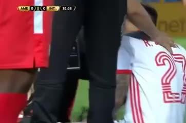 El momento de la lesión de Saravia
