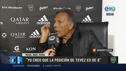 """""""Creo que la posición de Tevez es de 9"""""""