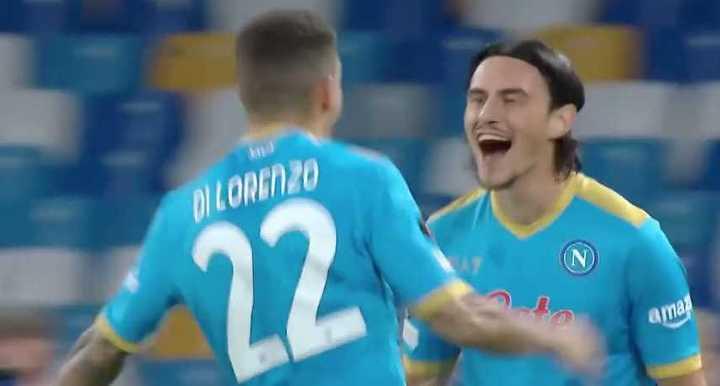 El gol tempranero del Napoli ante el Spartak