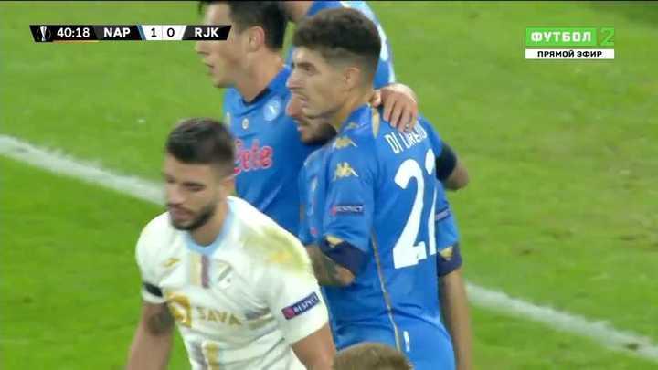El 1 a 0 de Napoli ante Rijeka