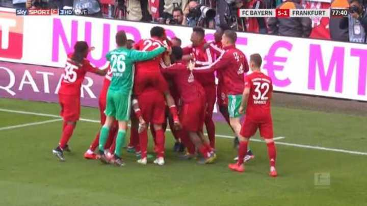 Mirá los goles de Bayern 5 - Frankfurt 1