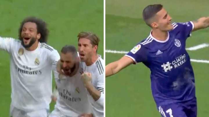 Los goles del empate del Real Madrid