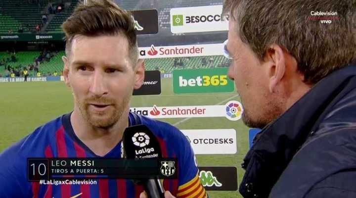 Messi habló post partido