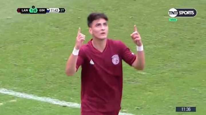 Gol de Orozco para Lanús