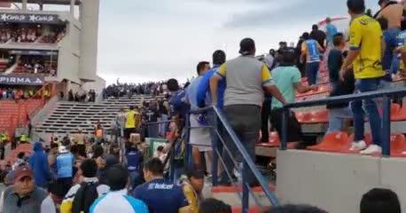 Los incidentes en la cancha de San Luis desde adentro