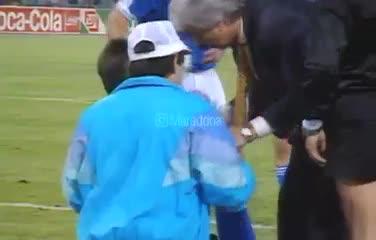 El posteo de Diego a 30 años de la final de Italia 90