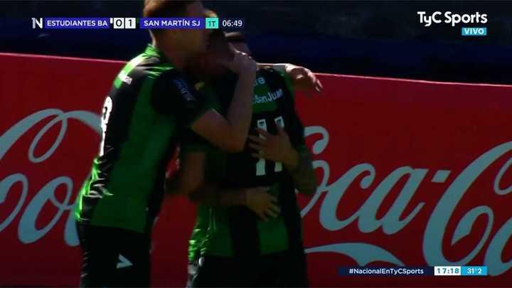 San Martín SJ convirtió con un gol de Berterame