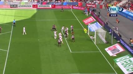 El gol de Alario para el Leverkusen