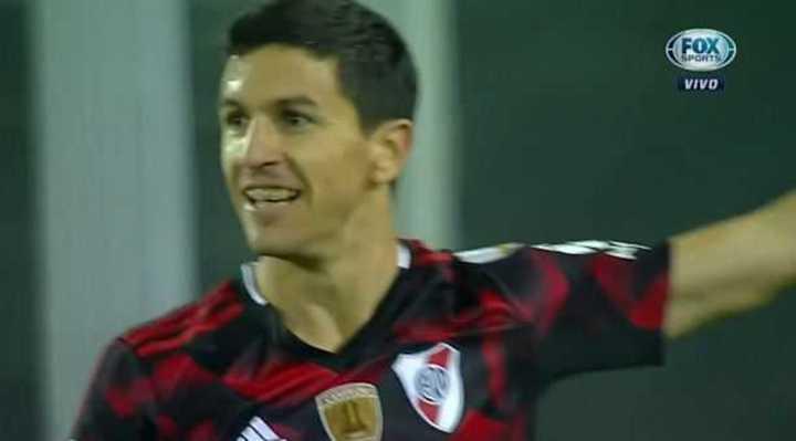 Nacho Fernández marcó el 2 a 0 de River