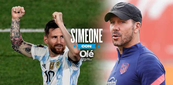 """Simeone: """"Messi es un ganador y nunca se dio por vencido"""""""