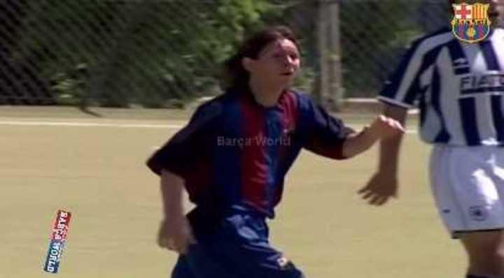 Messi en La Masía