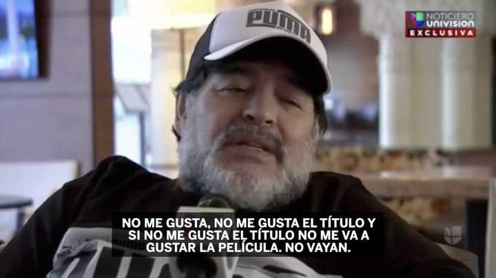 Maradona criticó su película