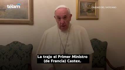 El papa Francisco agradeció la camiseta de Messi