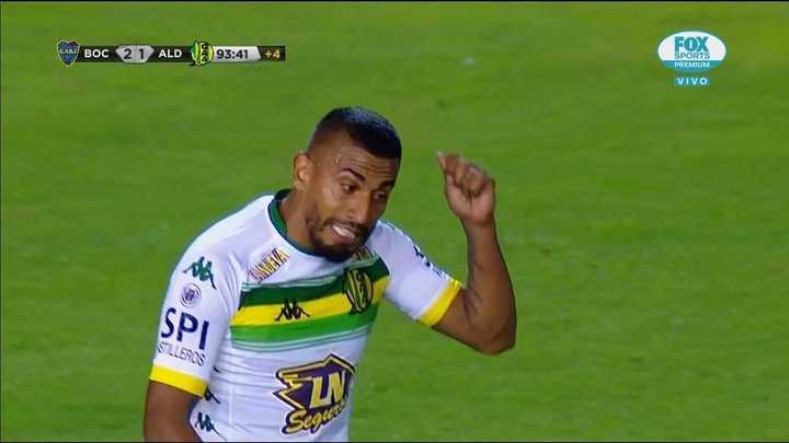 Le anularon un gol a Aldosivi en la última del partido