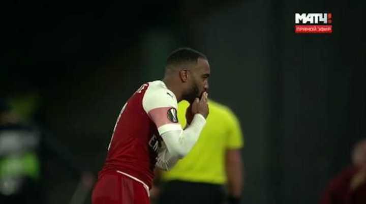 Lacazette abrió la cuenta para el Arsenal