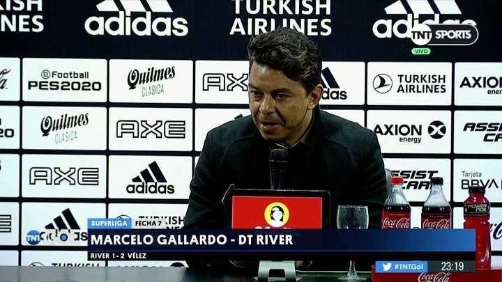Gallardo habló sobre la intensidad de Vélez