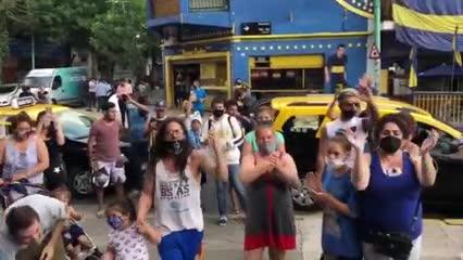El homenaje de los hinchas de Boca en la Bombonera