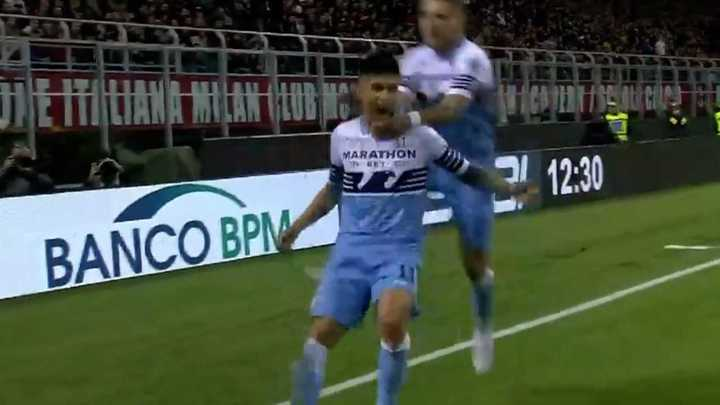 Gol del Tucu Correa en Copa Italia