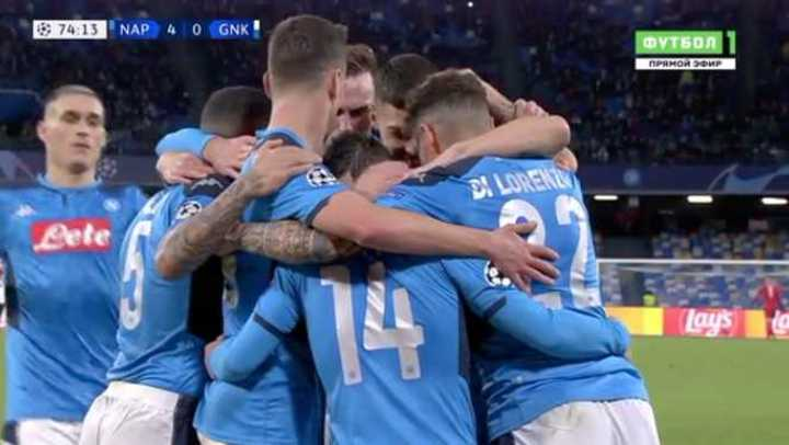 Goleada del Napoli en la Champions
