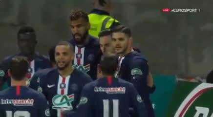 Sarabia marcó el único tanto del partido