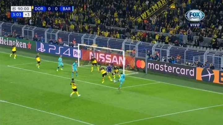 Messi lo tuvo en la última del partido