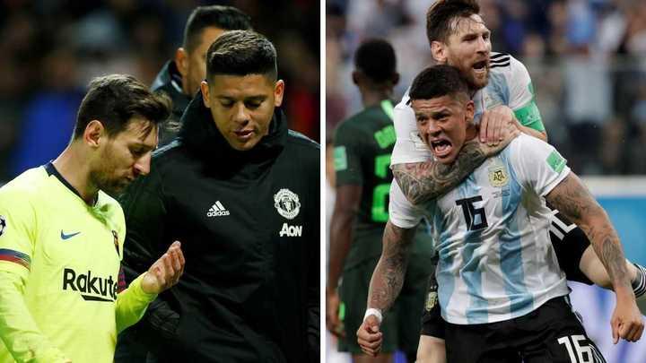 El día que Rojo le pidió a Messi para que haga un gol con derecha