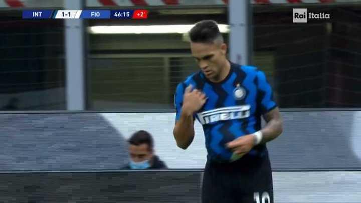 Golazo de Lautaro para el empate de Inter