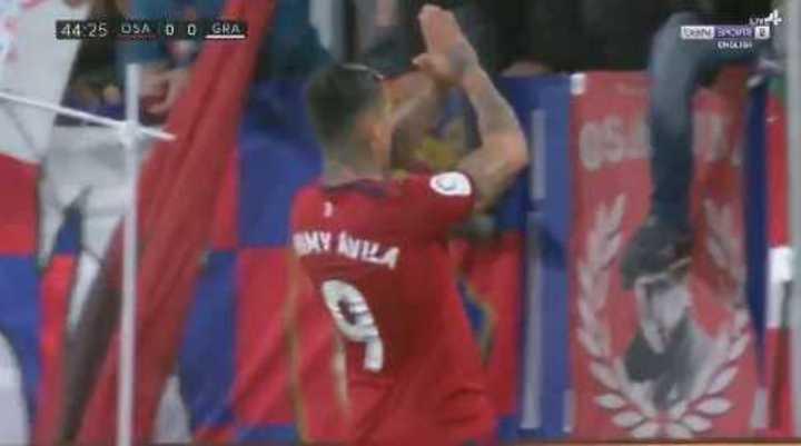 El gol del Chimy Avila al Granada