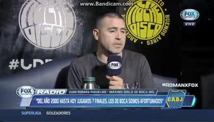 Riquelme sobre el gol de Quintero
