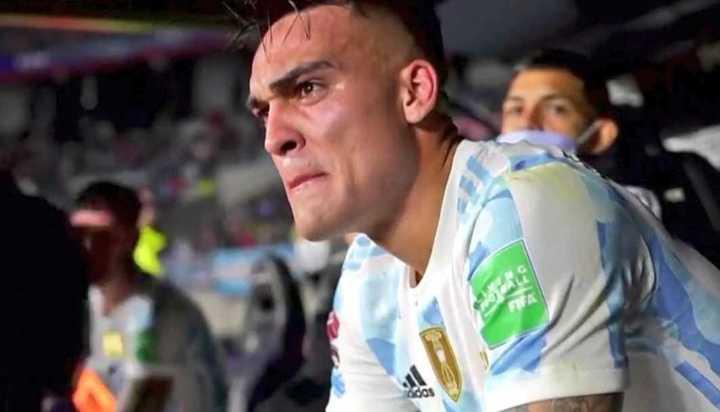 La emoción de Lautaro Martínez