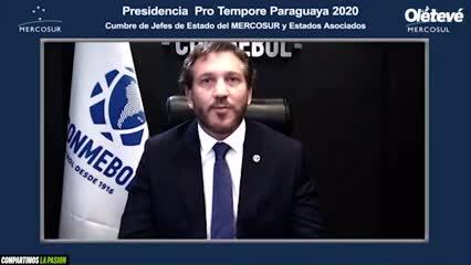 El discurso de Alejandro Domínguez
