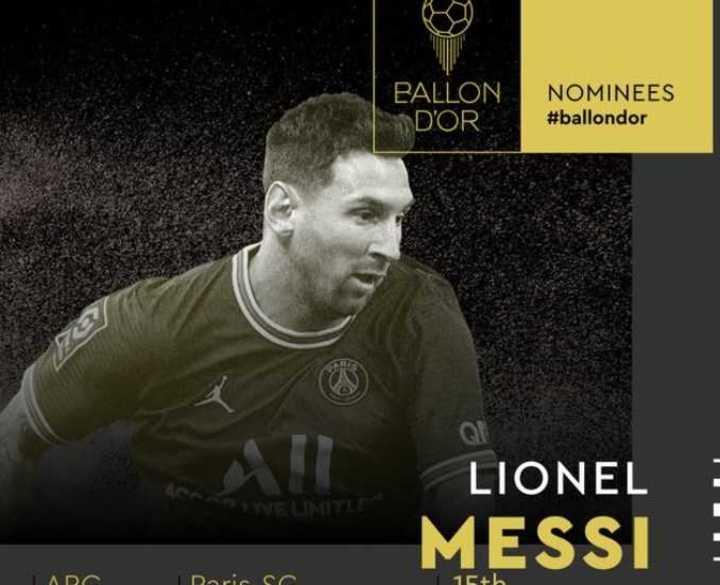 Messi fue nominado al Balón de Oro