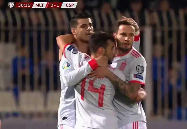 El 1 a 0 de España a Malta
