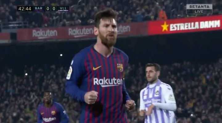La Pulga, de penal, marcó el 1 a 0 de Barcelona