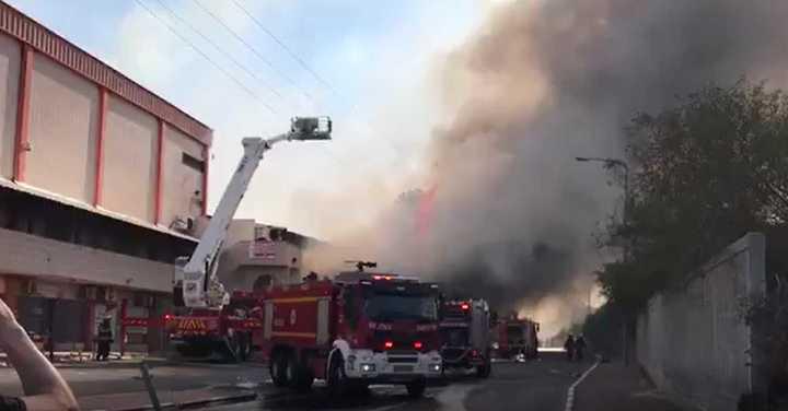 Fuego en una ciudad de Israel